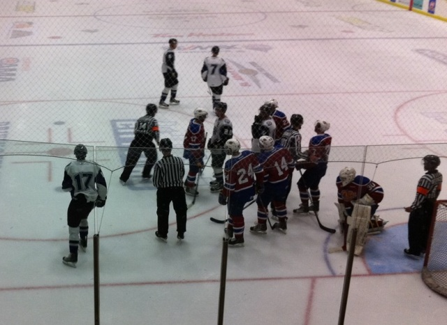Action from a previous Oil Kings exhibition event