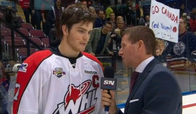 Lowry interviewed at the Subway Super Series