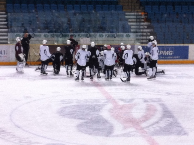 The Broncos at practice Kamloops