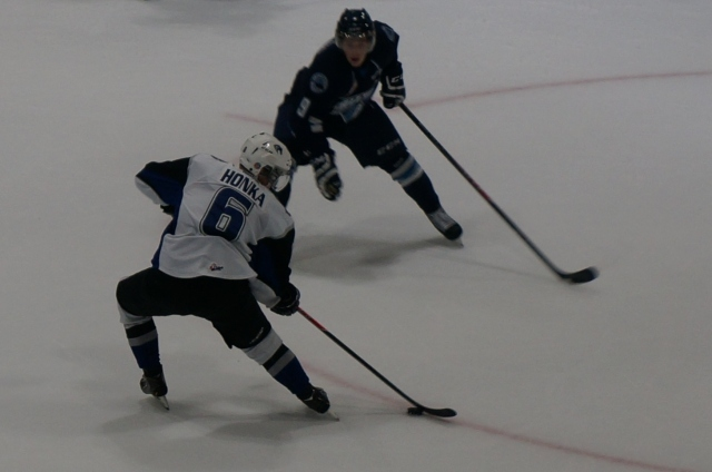 Julius Honka scored Swift Current's lone goal on Sunday