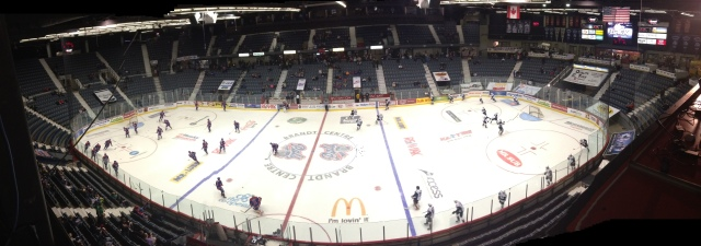 The Brandt Centre during warm up