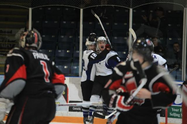 Brycen Martin celebrates his goal (Photo by Darwin Knelsen)