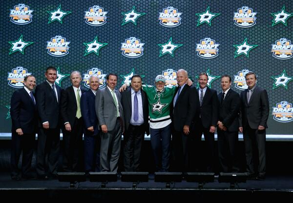 Honka after being drafted (photo from @DallasStars)