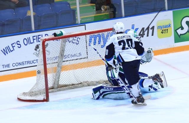 Adamson scores the winner (photo by Darwin Knelsen)