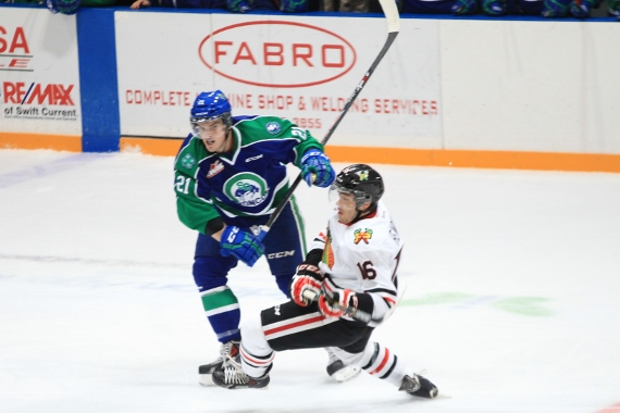 Carter Rigby is out of tonight's game with a suspsension (photo by Darwin Knelsen)