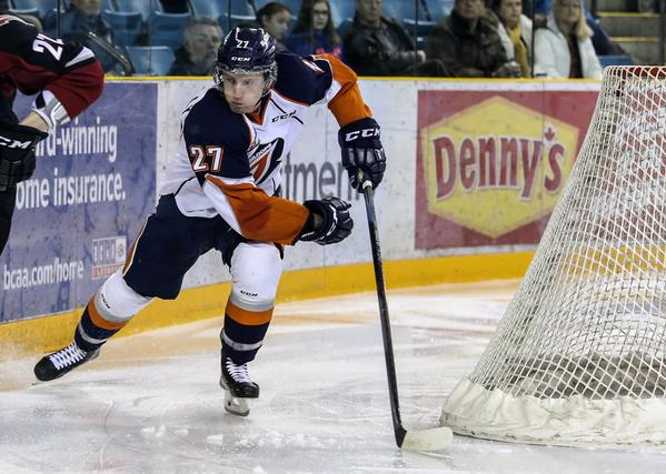 Josh Connolly (photo by Allen Douglas for the Kamloops Blazers)